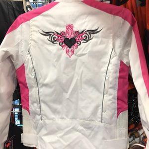 Ladies textile bikers jackets
